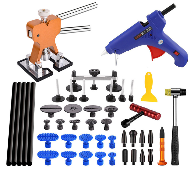 PDR Ferramentas Paintless Dent Repair Tools Glue Gun Puller Glue Pdr Taps Dent Removal Auto Body Kit Removing Dents
