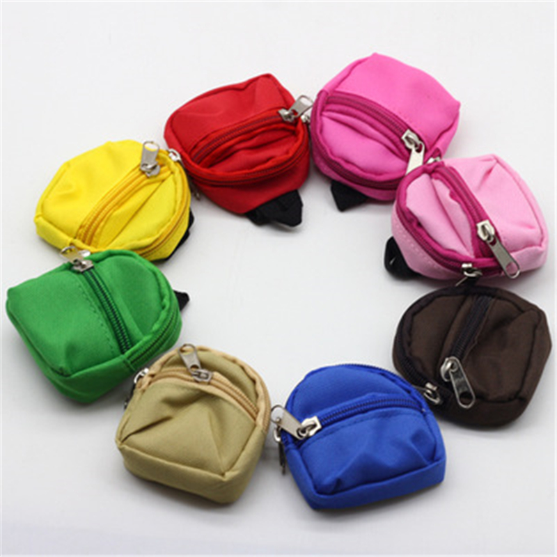 8Colors BJD Doll Backpack Bag Accessories Exquisite Mini Barbe Toys Cute Children Gifts Doll Mini Backpack