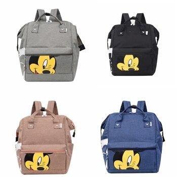 De dibujos animados de Disney bolsa de Mickey figuras de acción mochila para juguetes para niñas estudiantes cumpleaños regalos a la escuela bolso de viaje