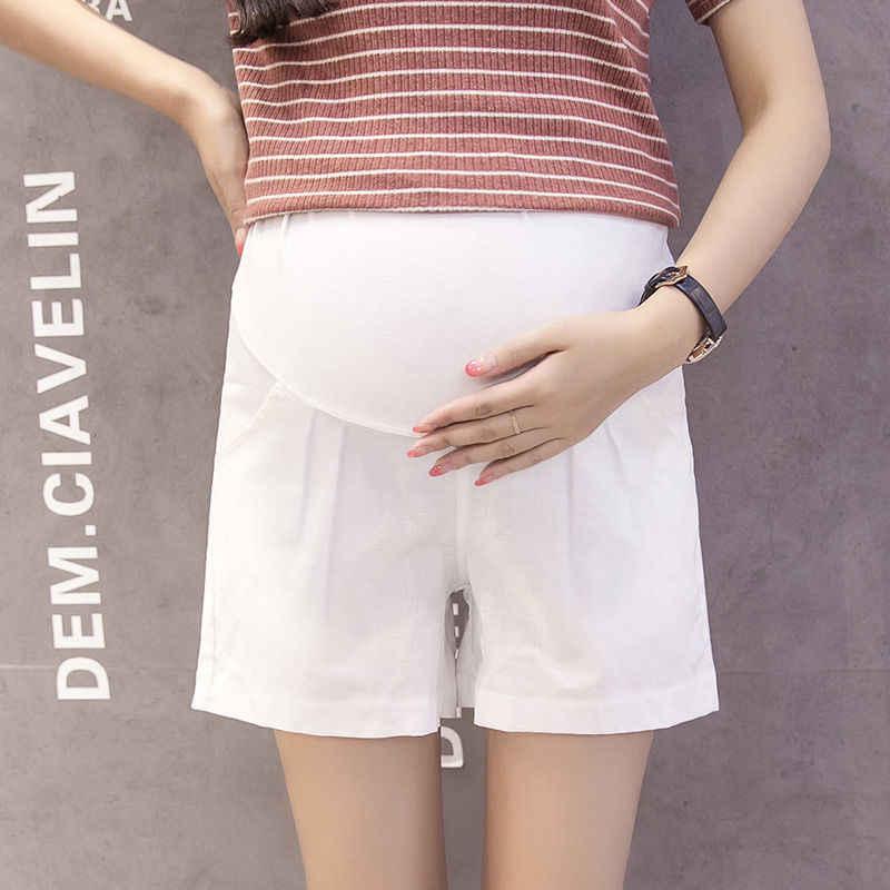 2020 חדש קיץ בהריון נשים Loose מקרית מכנסיים קצרים יולדות אלסטי בטן רחב מכנסיים רגל בתוספת גודל M-3XL H111