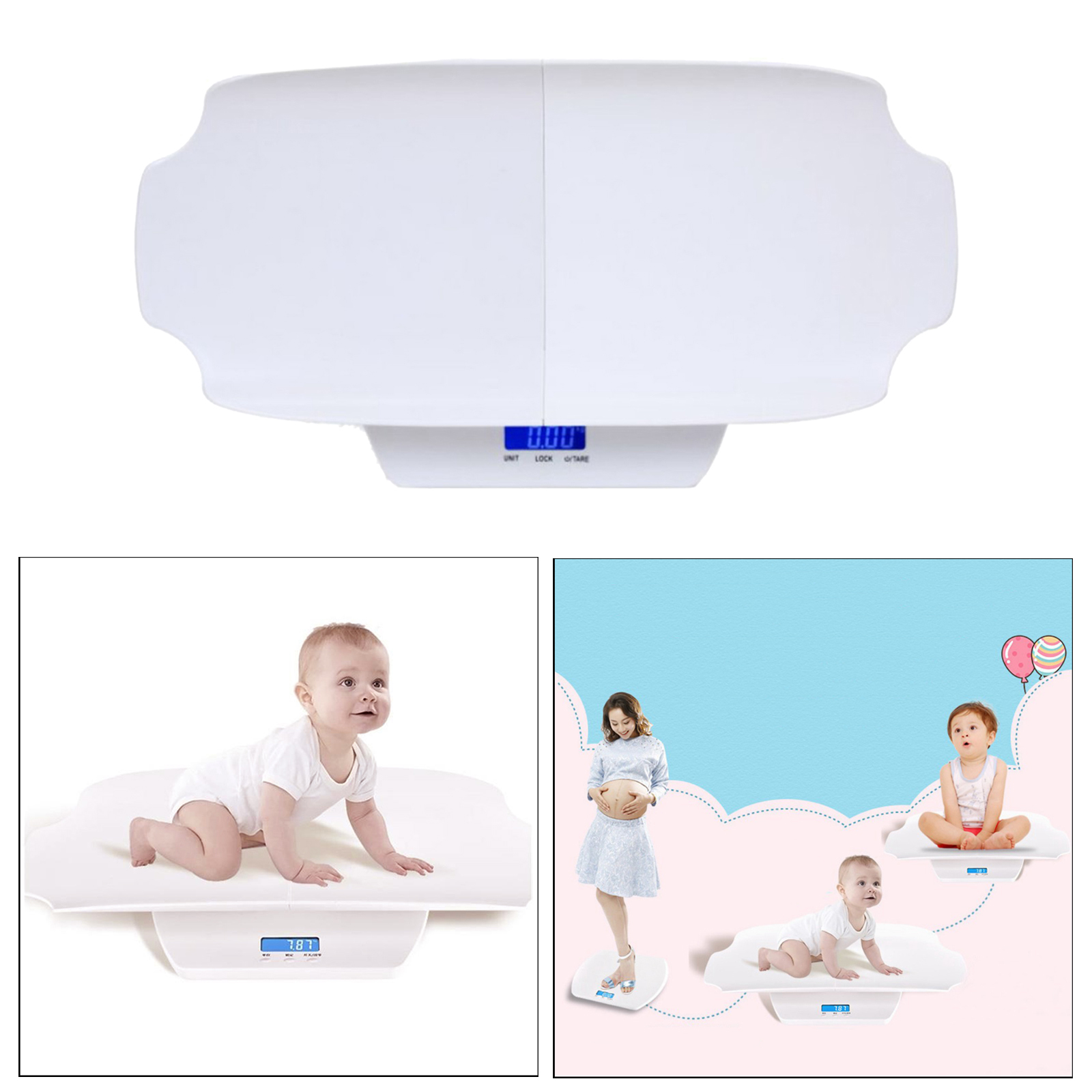 Baby Scale, Multi-Function Digital Baby Scale for Baby Pets Weight Accurately.Holding Function, LCD Display