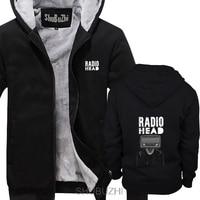 Radiohead, Rock Band, poster, Thom Yorke (ZINK WHITE NATURAL KHAKI) thick jacket croatia leather Brand hoodies men sbz4469