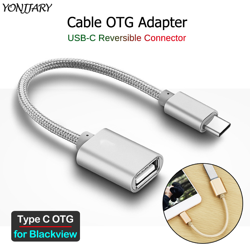 USB-C OTG Adapter Cable For Blackview BV6800 BV9500 BV9600 BV9700 BV9800 BV9900 Pro Plus A80 Pro Type C USB OTG Connector