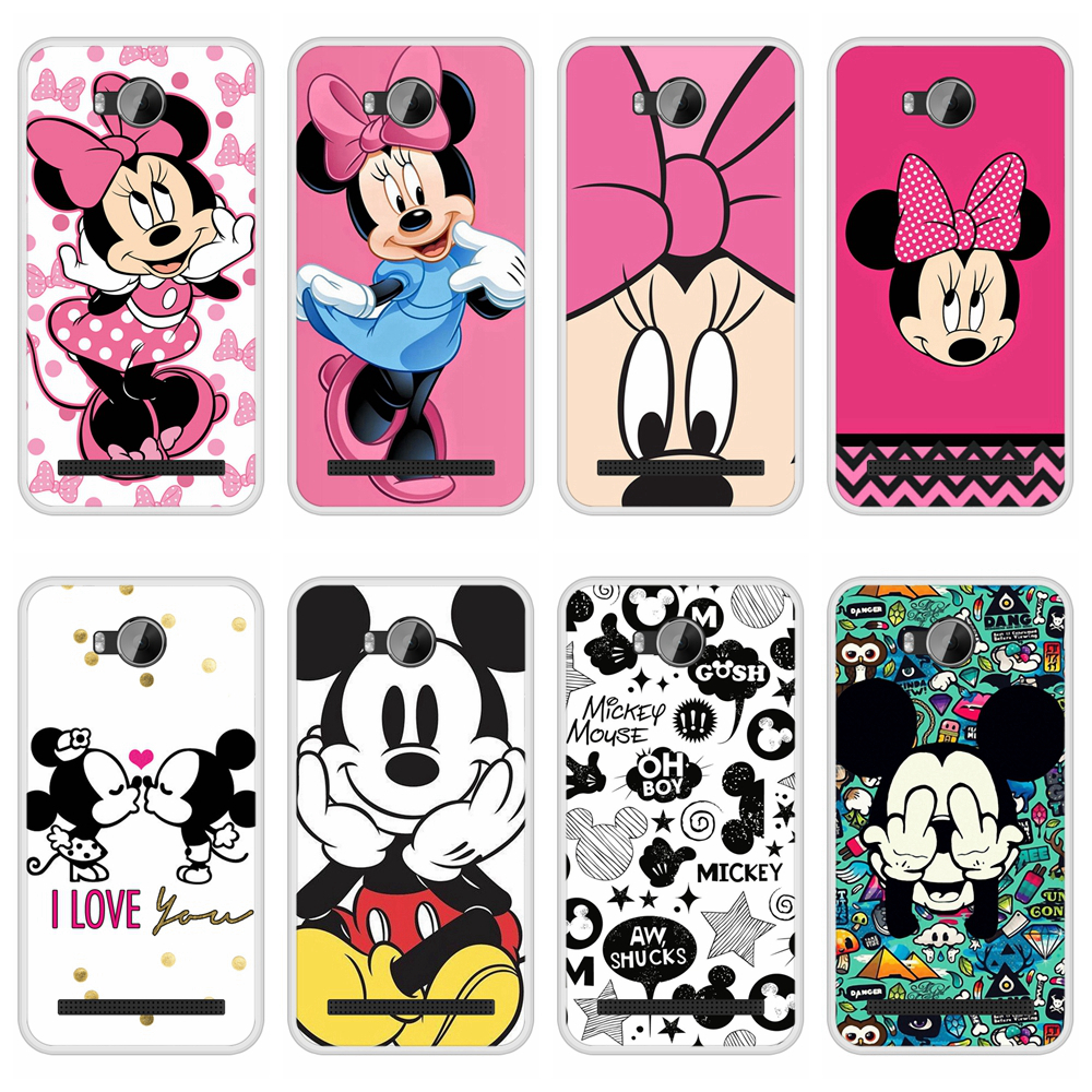 Case Cover for Huawei Y3II Y <font><b>3</b></font> II Soft Silicone TPU Mickey Minnie Patterned Paint for Huawei Y3 II Y3 <font><b>2</b></font> LUA L21 Phone Cases image
