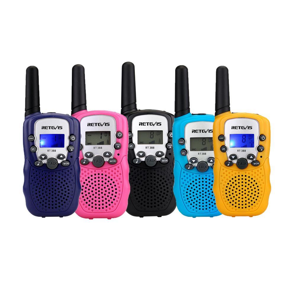 2pcs Kids Walkie Talkie Mini Children Radio Retevis RT388 Birthday Gift PMR446 FRS Flashlight Portable Two Way Radio Toys