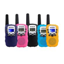2pcs Kids Walkie Talkie  Mini Children Radio Retevis RT388 Birthday Gift PMR446 FRS Flashlight Portable Two Way Radio Child Toys