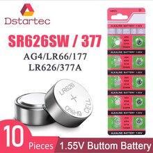 2020-nova 10 unidades/pacote 30mAh AG4 377 Baterias SR626SW SR626 177 376 626A LR66 LR626 SR66 Relógio da Pilha da Tecla Da Bateria 1.55V