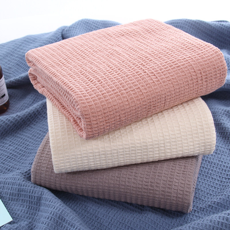 Japan Cotton Waffle Plaid Summer Blanket For Sofa Bed Towel Quilt Women Wrap Blanket Nap Blankets Throw Blanket For Car Office