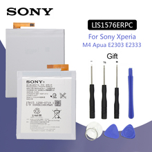 SONY Original LIS1576ERPC Phone Battery 2400mAh For SONY Xperia M4 Aqua E2303 E2333 E2353 Replacement Batteria + Free Tools for sony xperia m4 aqua e2303 e2353 e2333 lcd display touch screen digitizer assembly replacement tool adhesive free shipping