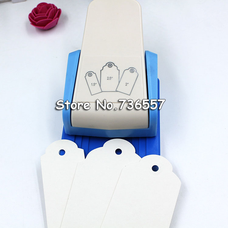 Punch Tag Top Punch Straight 1.5,2 Or 2.5 Inch Gift Tag Paper Punches For Scrapbooking Craft Perfurador Diy Puncher