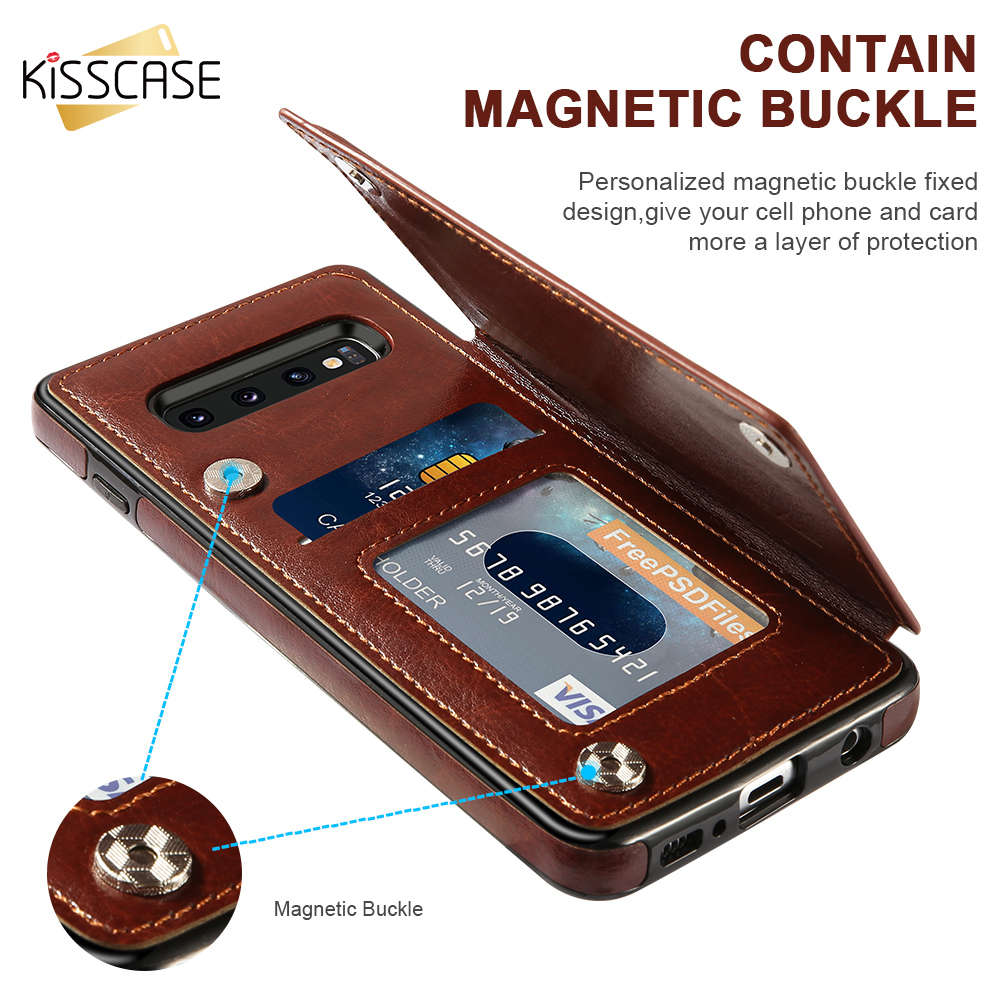 KISSCASE Card Slot <font><b>Flip</b></font> Wallet <font><b>Case</b></font> For <font><b>Samsung</b></font> A50 <font><b>A70</b></font> A40 Note 10 Plus Leather <font><b>Case</b></font> For <font><b>Samsung</b></font> <font><b>Galaxy</b></font> S8 S9 S10 Plus Cover image