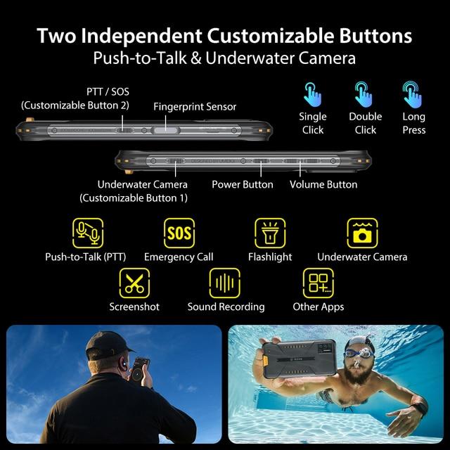 "UMIDIGI BISON IP68/IP69K Waterproof Rugged Phone 48MP Matrix Quad Camera 6.3"" FHD+ Display 6GB+128GB NFC Android 10 Smartphone 6"