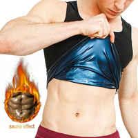 Hommes polymère sueur Sauna Shaper gilet corps Shaper taille formateur minceur gilet Compression Shapewear Corset réducteur de l'abdomen nous