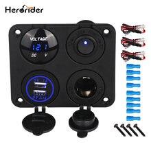 Herorider двойной Переходник usb для зарядки в машине гнездо