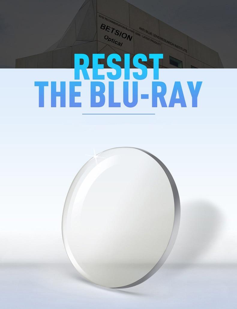Blue Light Blocking Rx lenses for Single Vision  UV400 Computer Anti Scratch Coating
