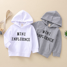 Sweatshirts Hoodies Baby-Girls-Boys Kids Infant Spring Letter 1-5Y Outfits Tops Pocket