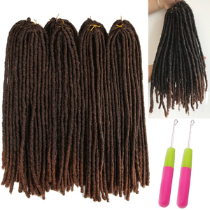 Image 5 - Synthetic Dreadlocks Crochet Braids Hair Knotless Jumbo Dreads Ombre Color Faux Locs Braiding Hair Extensions For Women X TRESS