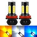 2 шт. P13W H11 H8 H4 H1 H3 H7 9005 9006 HB4 HB3 H16 5202 моноблочные светодиодные чипы туман светильник s лампы для фар дальнего света светильник противотуманных ф...