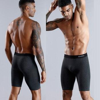 BONITOS Long Boxer Shorts Panties Man Underwear Men Boxer Men Underwear Natural Cotton Comfortable Soft Top Brand High Quality