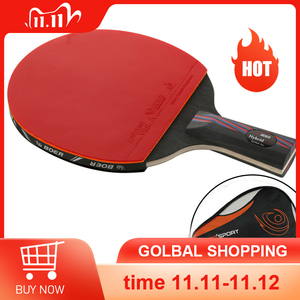 Image 1 - מקצועי טניס שולחן בת Trianing שולחן טניס להב מחבטי ארוך קצר ידית פינג פונג משוט מחבט עם לשאת תיק