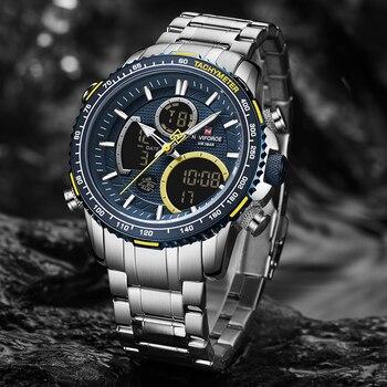 NAVIFORCE Big Dial Sport Chronograph Quartz Wristwatch 3