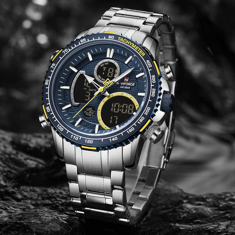 NAVIFORCE hommes montre haut de gamme marque grand cadran Sport montres hommes chronographe Quartz montre-bracelet Date mâle horloge Relogio Masculino