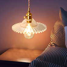 Nordic glass pendant lights simple bedroom bedside lamp dining room aisle lighting shop commercial lighting cheap CN(Origin) ROHS Painted Parlor Study Master Bedroom other bedrooms Cord Pendant 3 years Glass Stone 3-5square meters DX20829LZ02