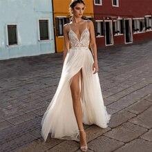 Eightree класса люкс с бусинами пикантные Свадебные платья низким