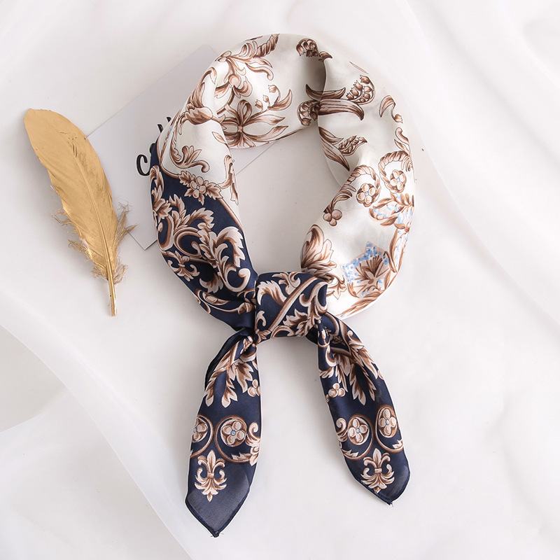2020 New Silk Scarf Square Women Fashion Work Neckerchife Spring Summer Decorative Scarves 70*70cm Small Scarfs Gift For Lady