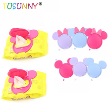 1 Pc Baby Wipes Lid Wet cover Portable child kids wet tissues Cartoon Infant paper lid  Useful accessories