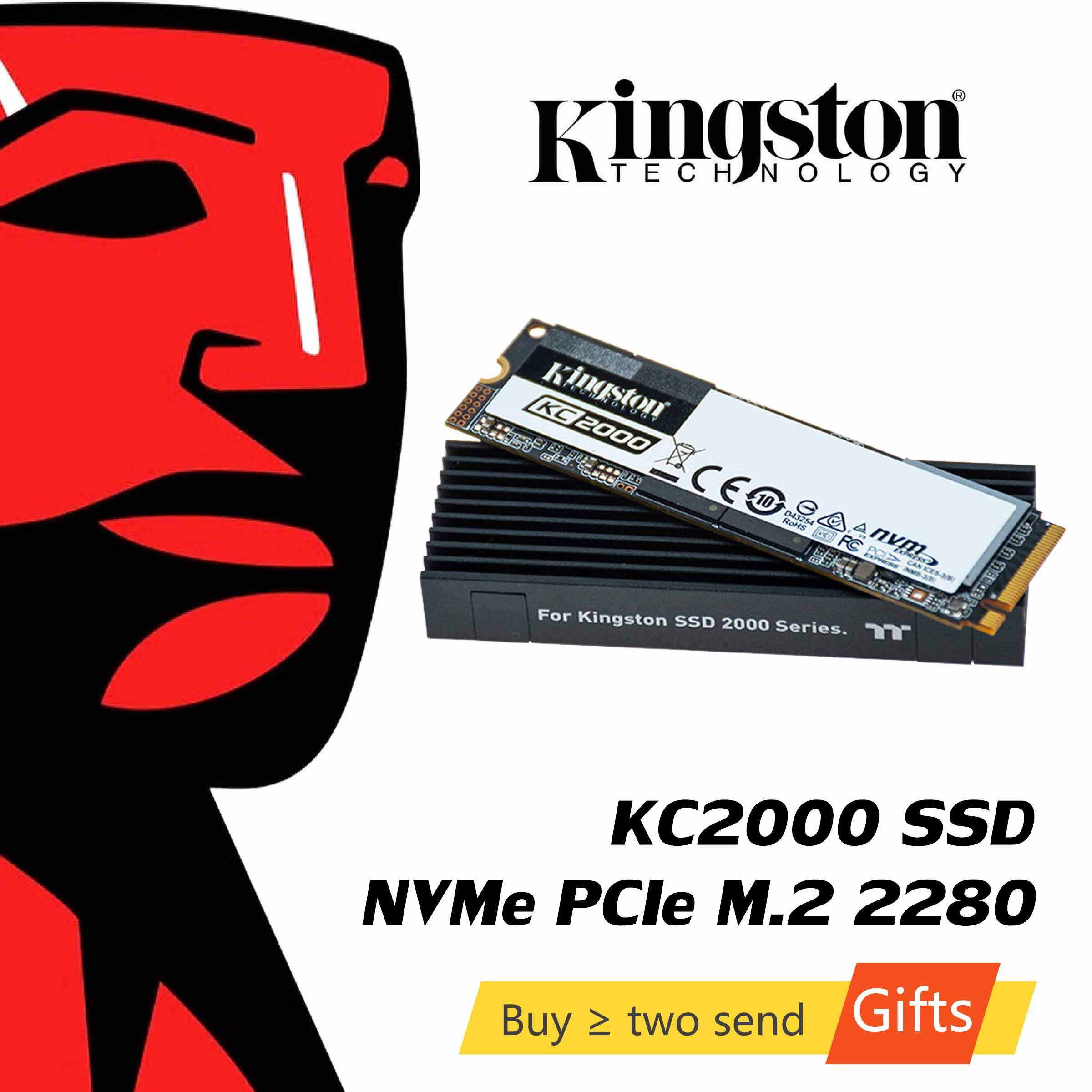 Kingston KC2000 <font><b>NVMe</b></font> <font><b>M.2</b></font> 2280 SATA <font><b>SSD</b></font> 250GB 500GB 1TB Interne Solid State Drive Festplatte SFF für PC Notebook Ultrabook image