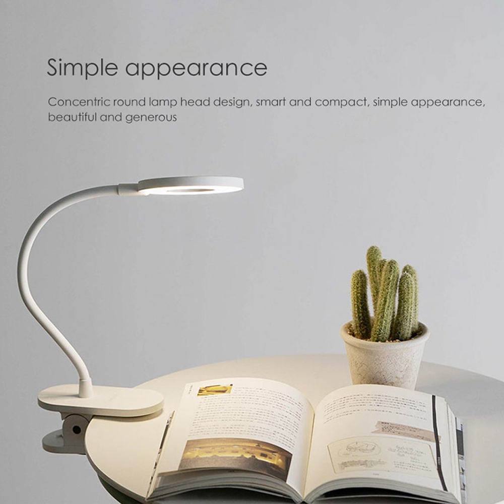 US $24.24 24% OFFYeelight Clip on Table Lamp Cordless Portable desk lamp  Touching Control 24 Brightness Level Eye Protection Reading LightDesk  Lamps