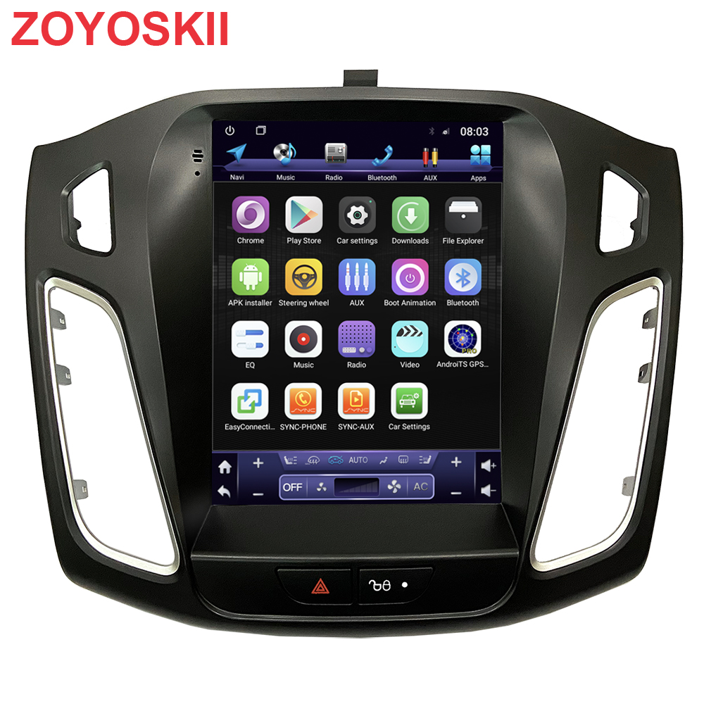 ZOYOSKII Android 10 10.4 Inch IPS Vertical Screen Car Gps Multimedia Radio Bt Navigation Player For Ford Focus Salon 2012-2016