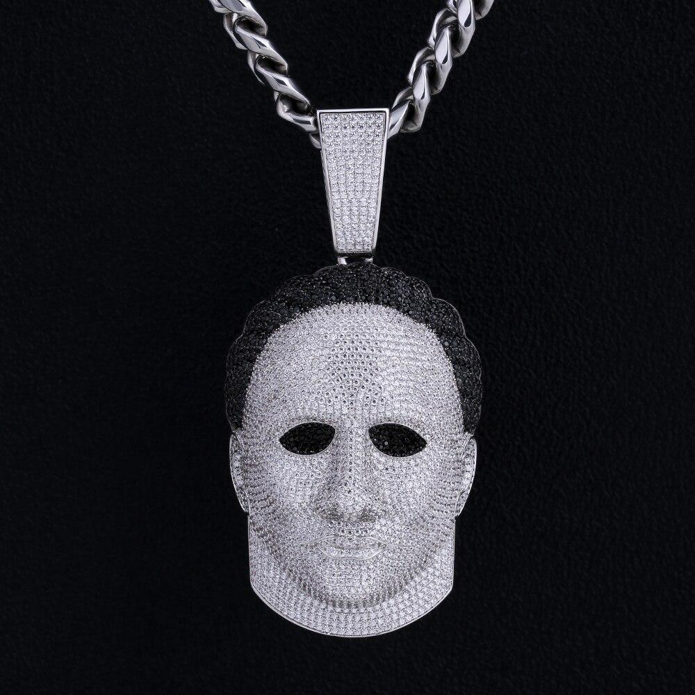DNSCHIC хип хоп подвеска страшный призрак Подвеска для Хэллоуина для мужчин хип хоп ювелирные изделия Подарочная Маска «Майкл Майерс» подвеск