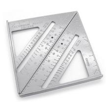 7 inch Measurement Triangle Angle Protractor Measuring Ruler Woodworking Tool Aluminum Alloy Tri-square Line Scriber Saw Guide