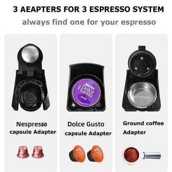 HiBREW ST-504 Espresso Coffee Machine 3-In-1 Multi-Function;Coffee Maker,Espresso Maker,Dolce gusto capsule coffee machine, 3