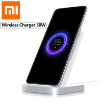 Original Xiaomi Vertical Air cooled Wireless Charger 30W Max with Flash Charging for Xiaomi Mi 9 Pro 5G Mi Mix 3 For iPhone 11