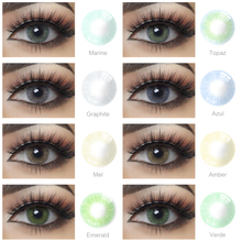 Cosmetic-Eye Contacts-Lens Gray Bright Eyes Blue Natural Yearly with for 2pcs/Pair