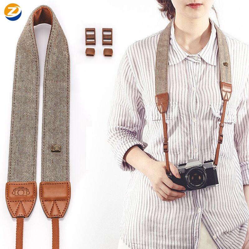 New Adjustable Cotton Leather Camera Shoulder Neck Strap Belt For Sony/ Nikon Portable Camera Strap For DSLR Digital SLR Camera