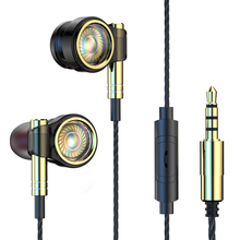 Super Bass headset 6D Noise Cancelling earphone Subwoofer earpiece Hi Fi Stereo Music Earbuds Wired  with Wheat Phone Headset