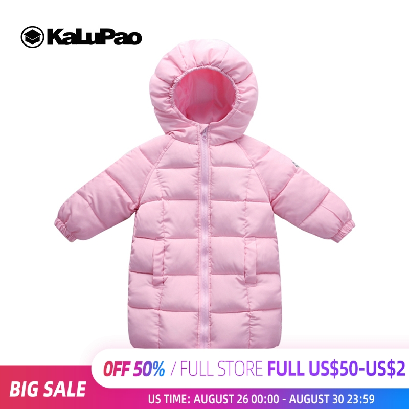 kalupao Down Jackets For Girl Boy Winter Coats Children Clothing Warm Long Snowsuit Overalls Baby Clothes Kids Outerwear