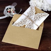 50 Deluxe Envelope Wedding Invitation Card Laser Cut Birthday Card Wedding Decoration Party Supplies