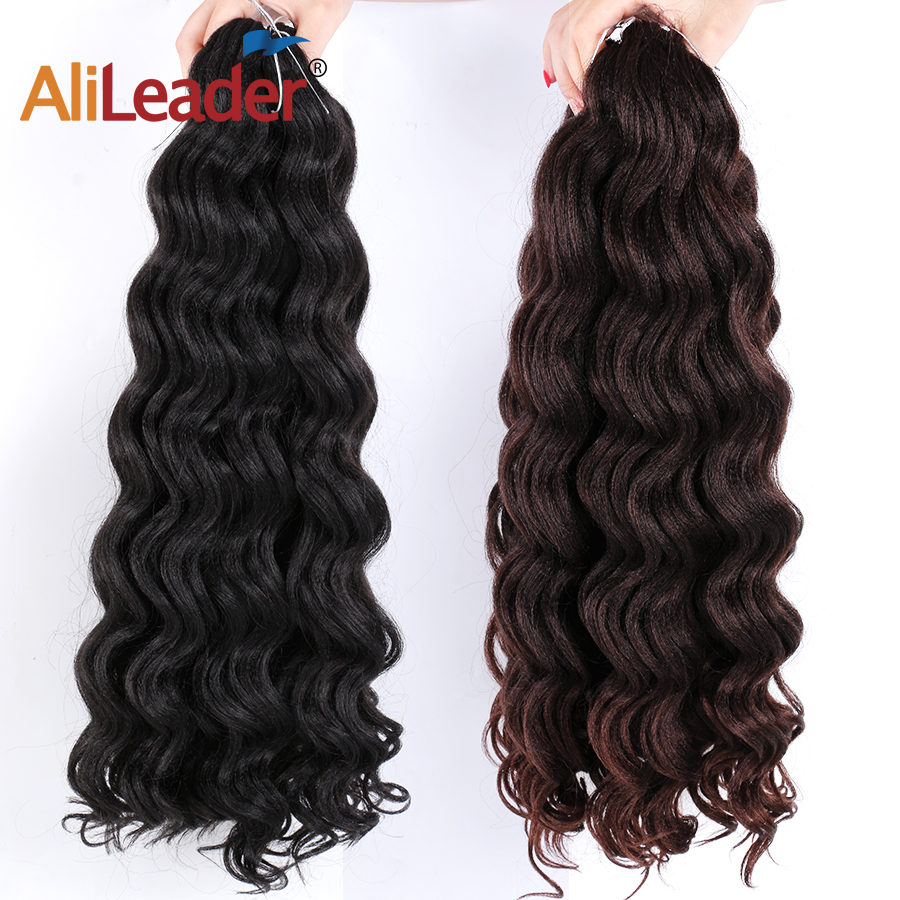 Alileader Ombre Crochet Hair Water Wave Extensions 20