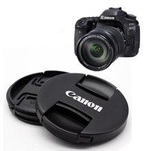 NUOVO Ⅱ Canon lens cap,77 millimetri/72 millimetri/67 millimetri/62/58/55/52/49mm/82 millimetri Centro Pinch Snap on Copriobiettivo Anteriore per Fotocamera Canon