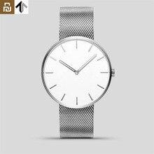 Youpin TwentySeventeen אנלוגי קוורץ שעון יד 39mm זוהר מים עמיד אופנה גברים נשים יוקרה פלדה שעונים מתנה הטובה ביותר