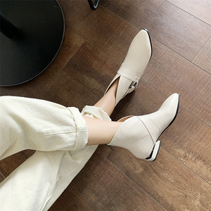Image 5 - FEDONAS Female Elegant Short Boots Quality Genuine Leather Women Ankle Boots Party Dancing Shoes Woman Big Size Chelsea Boots