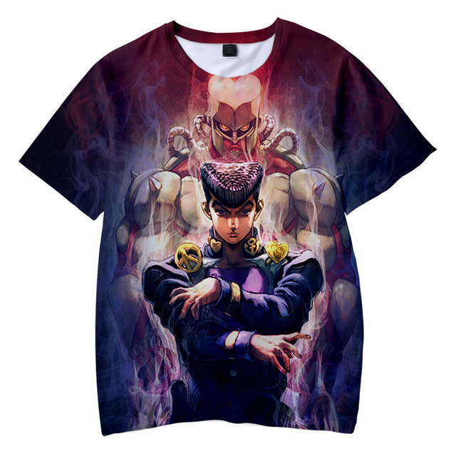 JOJO 3D T Shirt Men/women Anime JOJO's Bizarre Adventure Cosplay Costume Kujo Jotaro Kira Yoshikage T-shirt Streetwear Tops 5