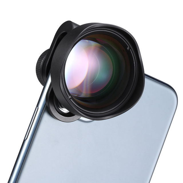 Сверхмакрообъектив Ulanzi 75 мм 10X для камеры телефона, объектив 17 мм с резьбой, HD объектив для телефона iPhone, Piexl, Huawei, One Plus, Xiaomi