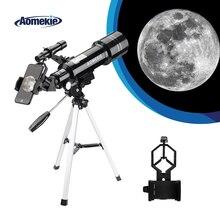 AOMEKIE 40070 астрономический телескоп с компактным штативом, держатель телефона, наземное пространство, Луна, монокулярный прибор наблюдения, детский подарок