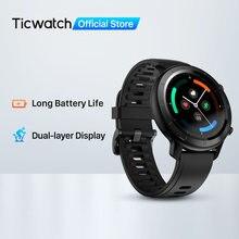 Ticwatch gtx fitness smartwatch para android & iphone longa vida útil da bateria ip68 à prova dip68 água monitoramento de freqüência cardíaca rastreamento do sono